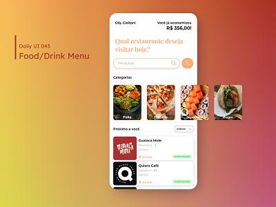 Daily UI - Food/Drink Menu food app lunch drink food menu mobile mobile ui design dailyuichallenge daily 100 challenge ui 043 dailyui