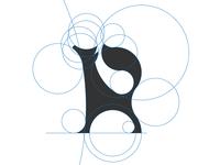 Letter R fox Logo