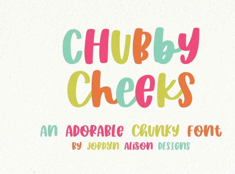 Chubby Cheeks, A Hand Lettered Thick Font font designer vector branding sans serif font design font hand lettering hand lettered font hand lettered font design typography