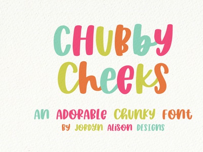 Chubby Cheeks, A Hand Lettered Thick Font font designer vector branding sans serif font design font hand lettering hand lettered font hand lettered font design typography