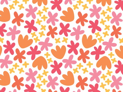 Happy Day Floral Pattern surface pattern design surface pattern surface design happy pattern summer pattern spring pattern floral pattern pattern repeat pattern pattern design pattern a day
