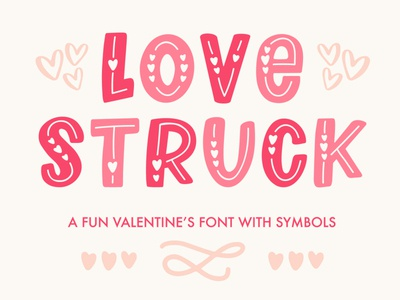 Love Struck Font vector design typography design heart font valentines font font family font designer hand lettered font hand lettered hand lettering font design font valentines day valentines typography