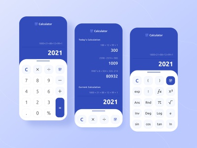Calculator Mobile App Design #Exploration ui ux user ui ux design calculator design calculator app calculator mobile design mobile interaction design interaction clean animation ui design design app ux ui