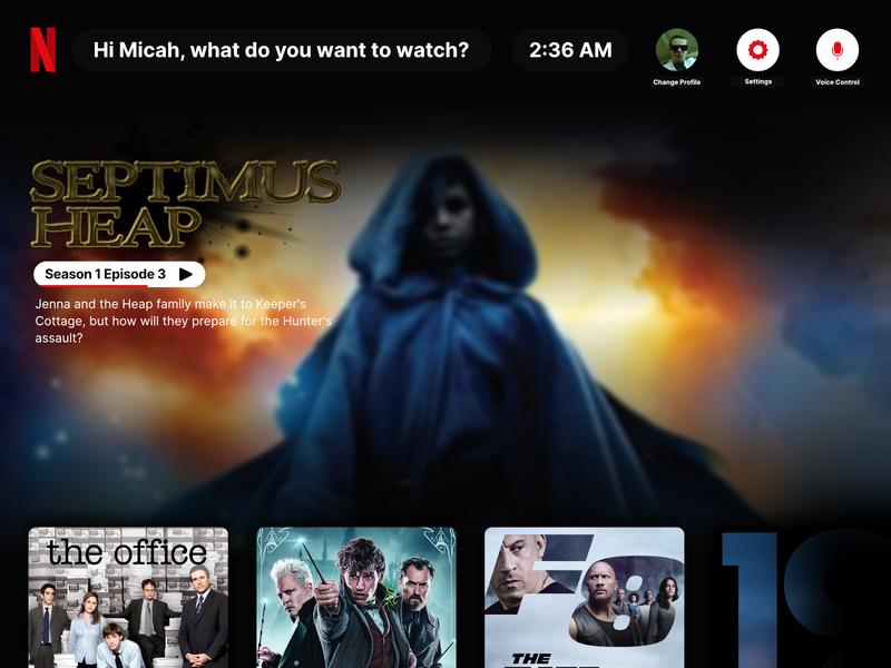 Netflix Redesign tv ux ui design streaming movies septimusheap affinity netflix