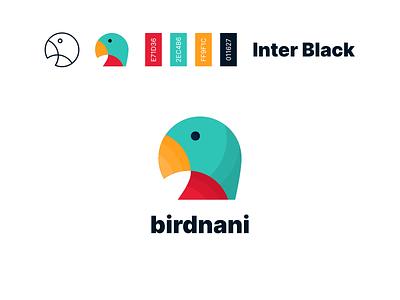 BirdNani branding golden ratio grid inter abstract icon typography illustration logo branding vector flat design