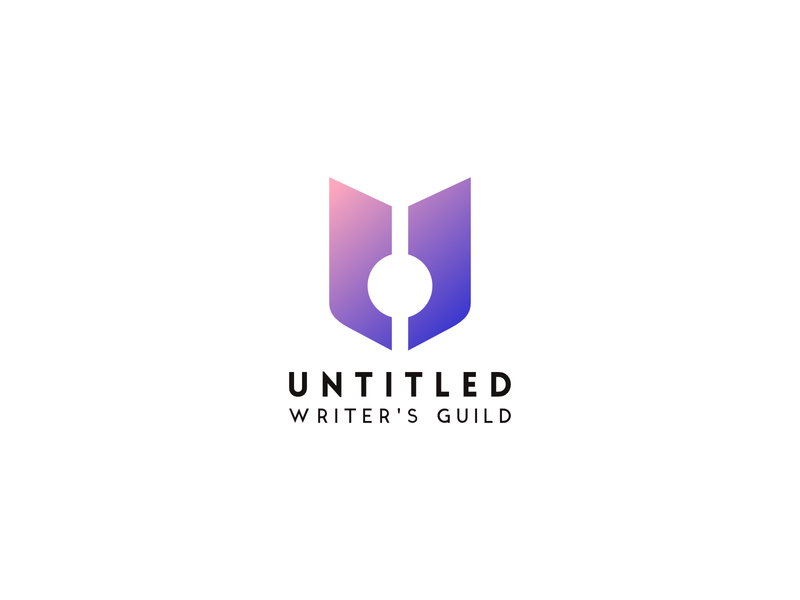Untitled Writers Guild gradient logo letter gradient minimal icon typography illustration logo branding vector design