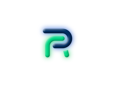 PR logo minimal 3d bevel illustration typography logo branding ux ui vector design