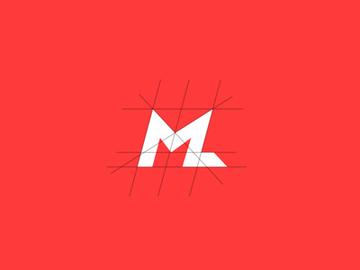 My logo, redone lettering wordmark grid ff3a3a red flatdesign minimal illustration typography logo branding flat vector design