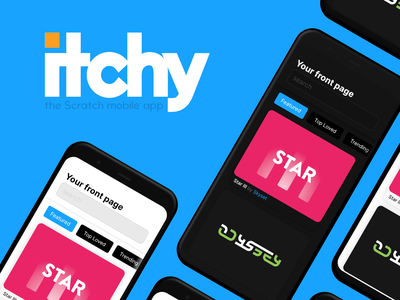 Itchy mockups mobile app design mobile ui app design mobile app mobile itchy scratch minimal app ux ui flat vector design