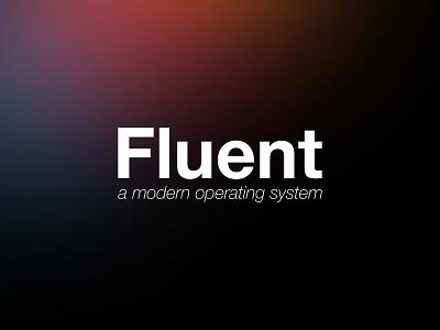 Fluent promotion ui fluent blurred gaussian blur gradient minimal typography logo branding vector design