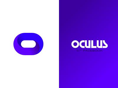 Oculus concept virtualreality flat twist 3d circle minimal logo typography branding design