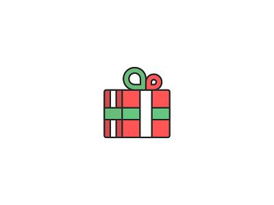 Gift gifts bow box present gift box gift christmas minimal flatdesign illustration flat vector design