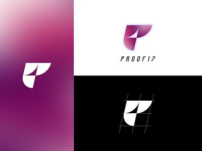 Proof Seventeen branding mesh gradient typography logo branding vector design