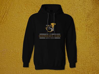 TSH hoodie jacket hoodie shirt logo band music horn t-shirt typography branding design