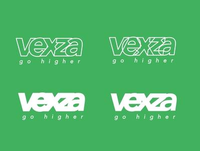 Vexza Branding outlines outline flatdesign branding design vexza scratch logo typography vector design flat branding