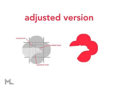 Ampara branding (adjusted) geometric grid breakdown icon scratch logo branding flat vector design