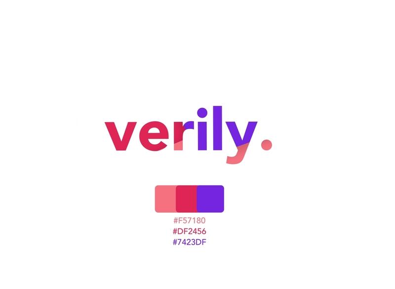 Verily branding hex codes colors shadow flatdesign typography logo branding flat vector design