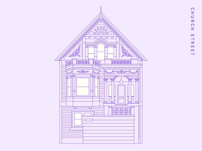 Victorian House II vector lineart architecture illustration graphicdesign