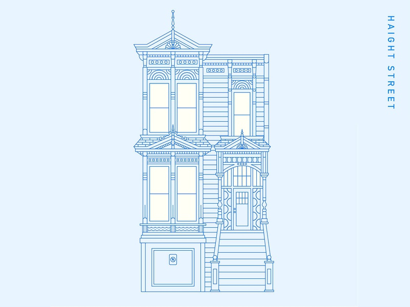 Victorian House II vectorart lineart architecture illustration graphicdesign