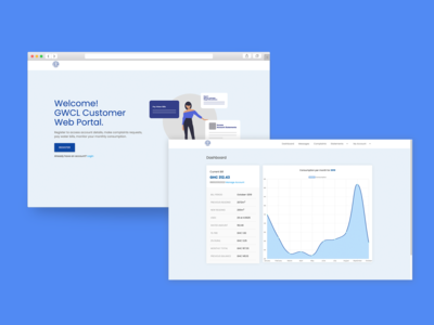 GWCL customer web portal - Web design