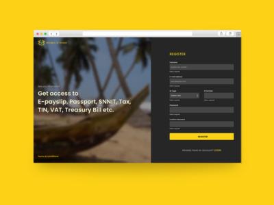 Registration / Sign up - Web design