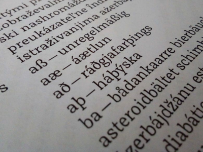 Testing diacritics