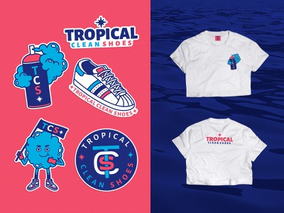 Tropical Clean Shoes sea stickers adidas jordan1 acapulco croptop cleanshoes sneakers