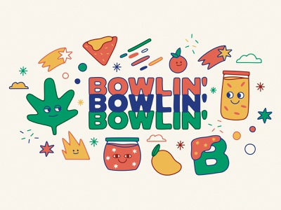 BOWLIN illustration mexico city logo branding cannabis weed spreadthegreen