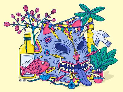 Tecuan print jaguar guerrero mexico city