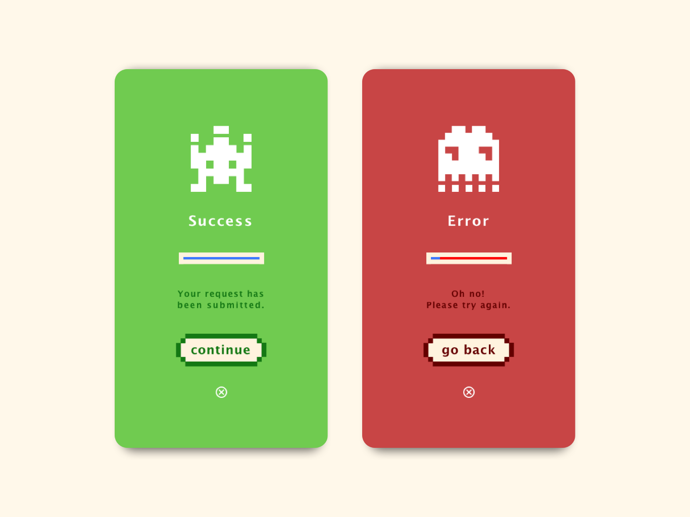 daily ui 011 - sign up red green error success genie signup 011 dailyui011 pixels pixelart pixel app design ui dailyui
