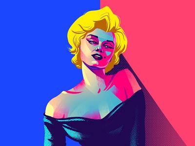 Marilyn Monroe freelance illustrator girl vector women procreate flag design character design illustrator illustration