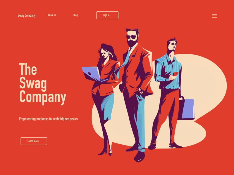 Landing Page Concept business vector illustration vectorart landing page landing page ui landing page concept landing page design flag design editorial illustration character design illustrator illustration