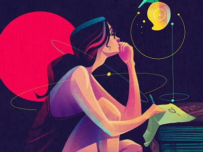 closer view album art cover art girl women editorial illustration character design illustrator illustration