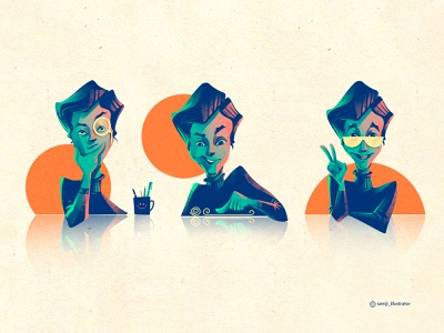 character illustration ui illustration web illustration icon illustration procreate character design illustrator illustration