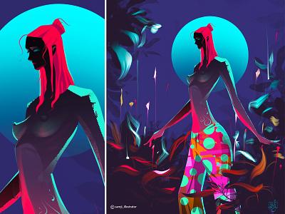 Unearthly cover artwork garden pajamas girl woman illustration freelance illustrator freelancer procreate character design illustrator illustration