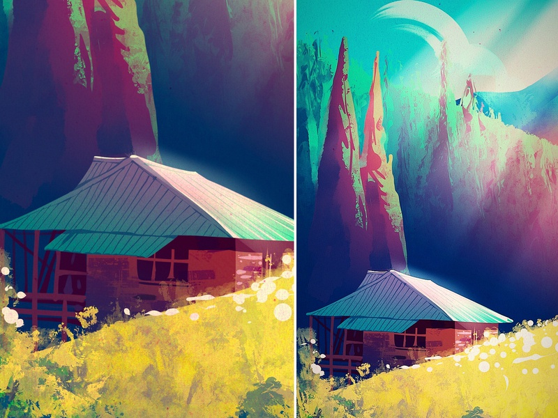 Grahan landscape illustrator illustration