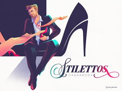 STILETTOS 👠 album cover design stilettos music cover art album artwork procreate flag design character design illustrator illustration