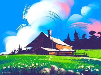 Dolomites freelance illustrator nature illustration nature art landscape illustration landscape