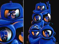 Terra's_Culture helmet sci-fi science space astronaut procreate character design illustrator illustration