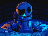 Ecosystem_Team space astronut freelance illustrator editorial art editorial illustration procreate flag design character design illustrator illustration