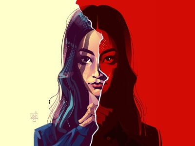 Karen Fukuhara fanart headshot illustrator portrait illustration theboys character design illustrator illustration