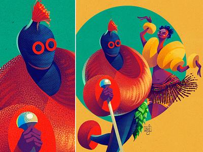 Ekpe procreate print design editorial illustration culture package design african woman girl editorial art illustrator illustration