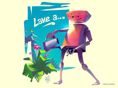 Lave...a awareness editorial illustration character design illustrator illustration