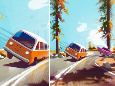 Yosemite samji illustrator samji freelance illustrator landscape nature art van vanlife editorial art editorial illustration illustrator illustration