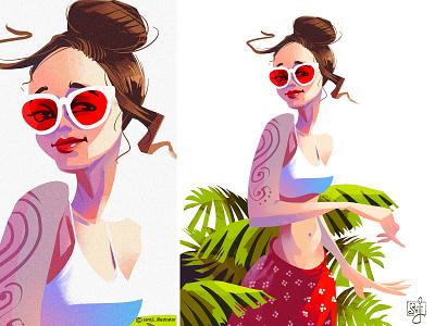 Character illustration character illustration girl women procreate character design illustrator illustration