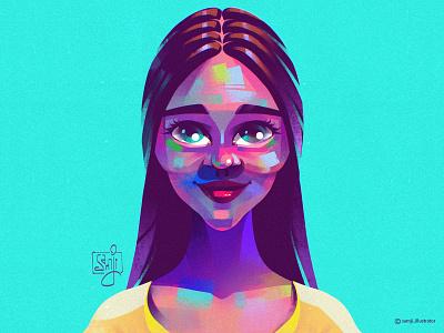 Portrait Sketch woman portrait illustration portrait girl procreate character design illustrator illustration
