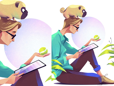 Jeff illustrator procreate characterdesign illustration animation framebyframe pug