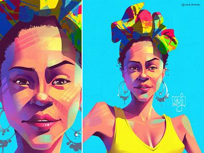 Portrait illustration portrait illustration portrait girl procreate illustrator illustration