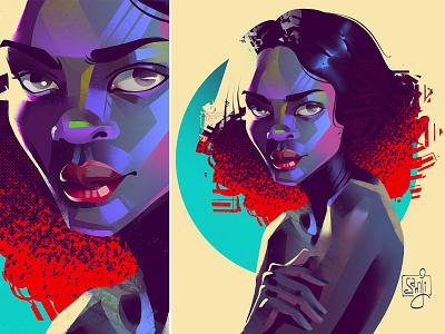 Portrait digital portrait portrait illustration portrait samji illustrator girl procreate character design illustrator illustration