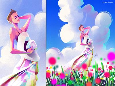 untitled samji illustrator freelance illustrator girl procreate character design illustrator illustration